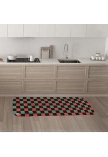 Tapete De Cozinha Mdecore Natal Colorido 40X120Cm