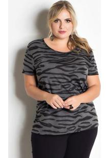 T-Shirt Zebra Animal Print Plus Size Marguerite