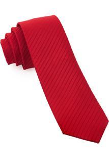 Gravata Slim Textured Red