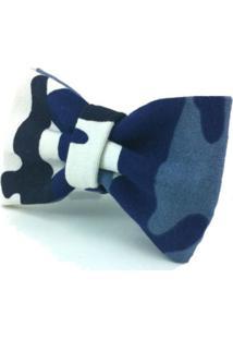Gravata Borboleta Monsieur Papillon Argy Camuflado Azul