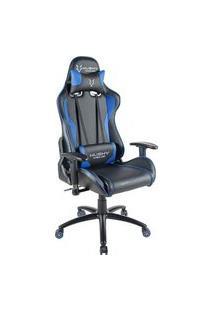 Cadeira Gamer Husky Gaming Storm, Preto E Azul, Com Almofadas, Reclinável, Descanso De Braço 2D - Hst-Bb