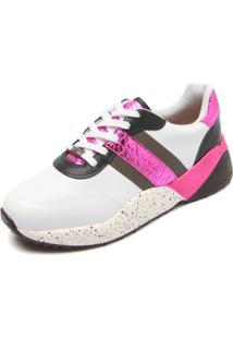 Tênis Vizzano Dad Sneaker Chunky Recortes Branco/Rosa