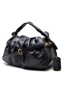 Bolsa Nó Couro Preta Hendy Bag
