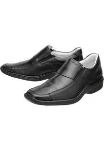Sapato Social Mafisa Conforto - Masculino-Preto