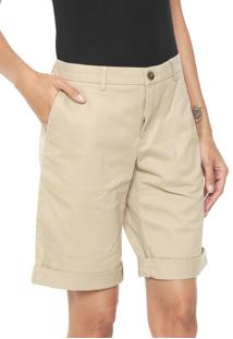 Bermuda Banana Republic Chino I 5 Inch Rolled Bege