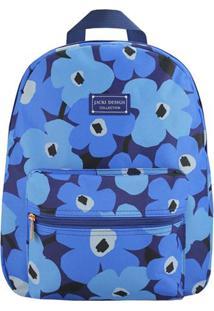 Mochila Floral- Azul Claro & Azul Escuro- 38X29,5X12Jacki Design