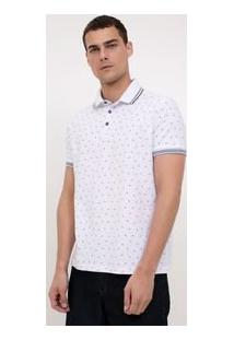 Camisa Polo Estampada Com Âncoras