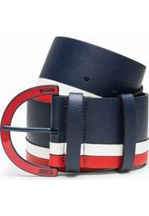 Cinto Cintura Medio Fivela Personalizada Azul/Vermelho/Branco