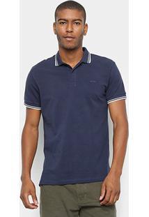 Camisa Polo Colcci Básica Masculina - Masculino-Azul