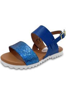 Sandália Claudia Lima Glitter Azul