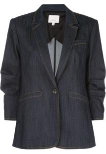 Cinq A Sept Jaqueta Jeans Khloe Com Abotoamento Simples - Preto