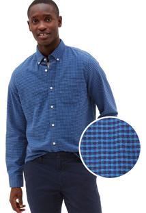 Camisa Gap Reta Vichy Azul