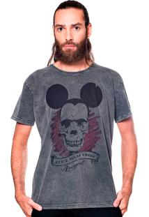 Camiseta Estonada Skull Mouse Liverpool Preto