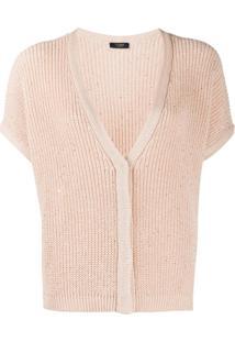 Peserico Embellished Knit Cardigan - Rosa