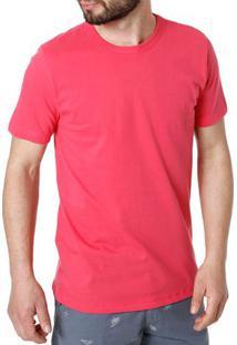 Camiseta Manga Curta Masculina Rovitex Rosa
