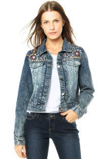 Jaqueta Jeans Mooncity Azul