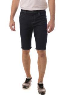 Bermuda Jeans Eventual Middle Masculina - Masculino-Azul Escuro