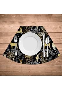Jogo Americano Para Mesa Redonda Wevans Rena Dourada Kit Com 4 Pã§S - Multicolorido - Dafiti