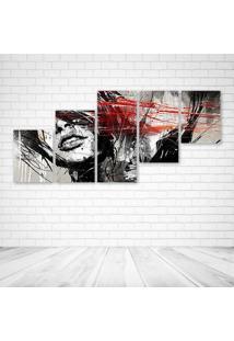 Quadro Decorativo - Those Lips Digital Art - Composto De 5 Quadros