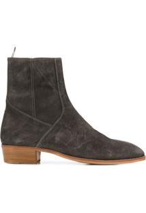 Represent Ankle Boot Com Zíper - Cinza