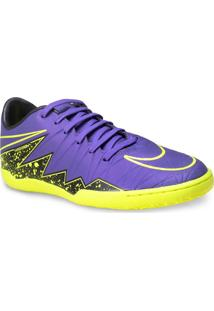 Tenis Masc Nike 749898-550 Hypervenom Phelon Ii Ic Roxo/Verde