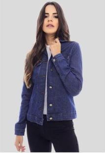 Jaqueta Jeans Sob Básica Com Elastano Feminina - Feminino