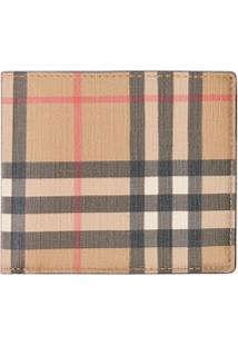 Burberry Carteira International Xadrez - Marrom