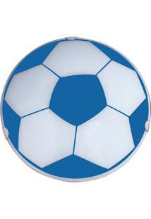Plafon Redondo Pequeno Silk Bola Azul