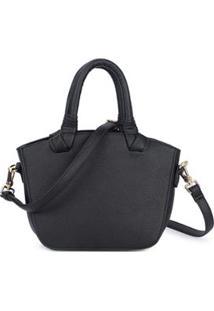 Bolsa Macadamia Mini Bag De Mão Preto - Feminino-Preto