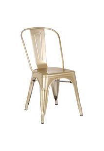 Cadeira Iron Dourado Rivatti Dourada Sourada