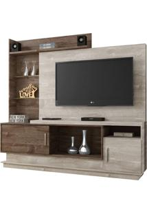 Estante Para Home Theater Adustina Champanhe E Chocolate 178 Cm