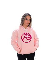Blusa Moletom Amanda Logo Maior Brazil Rosa