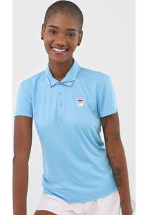 Camisa Polo Fila Estampada Azul