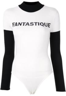 Pushbutton Body Fantastique De Tricô - Branco