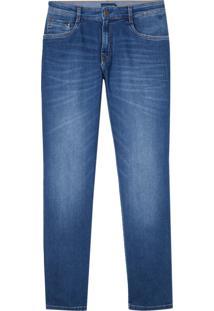 Calca Jeans Blue 3D Vintage (Jeans Medio, 42)