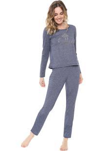 Pijama Malwee Liberta Lettering Azul
