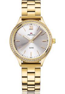 Relógio Philiph London Pl810411145F Dourado