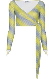 Maisie Wilen Blusa Com Transpasse E Estampa - Amarelo
