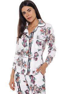 Camisa Studio21 Floral Branco