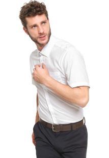 Camisa Calvin Klein Reta Lisa Branca