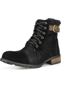Bota Casual Ankle Boot Cano Curto Dhatz Confortável Inverno Preta - Kanui