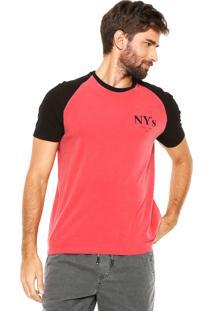 Camiseta Calvin Klein Jeans Raglan Vermelha