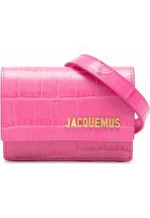 Jacquemus Pochete Com Efeito Pele De Crocodilo E Placa De Logo - Rosa