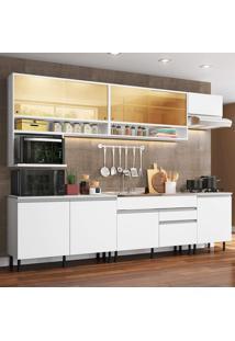 Cozinha Completa Madesa Verona Com Armário E Balcão (Sem Tampo E Pia) Branco