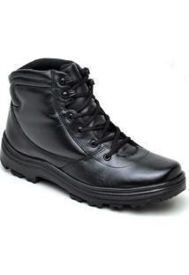 Bota Atron Shoes Militar Couro - Masculino-Preto