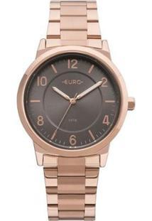 Relógio Feminino Euro Eu2036Yly/4J Pulseira Aço - Feminino-Bronze