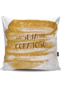 Capa Para Almofada Frases- Branca & Amarela- 45X45Cmstm Home