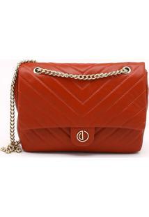 Bolsa Shoulder Bag Couro Matelassê Rubi Brick