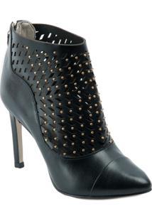 Ankle Boot Dumond Com Recortes A Laser E Mini Tachas - Feminino