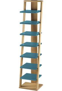 Prateleira Suspensa Stairway 1132 Palha/Azul - Maxima